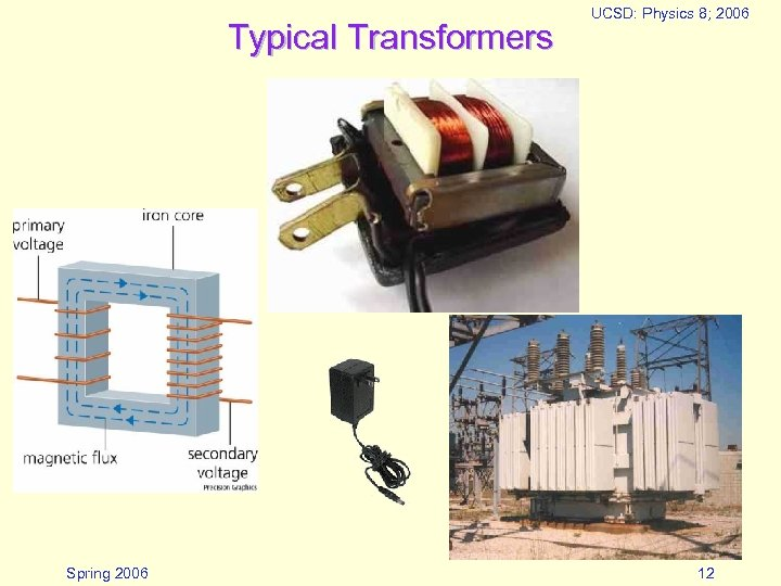 Typical Transformers Spring 2006 UCSD: Physics 8; 2006 12