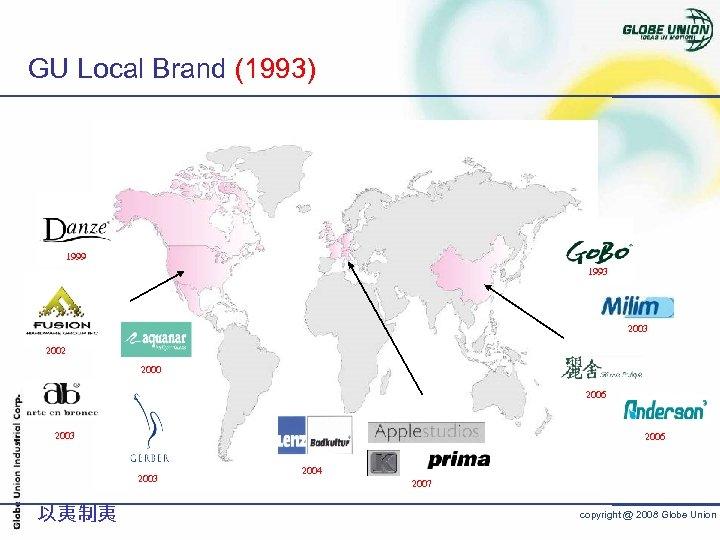 GU Local Brand (1993) 1999 1993 2002 2000 2006 2003 以夷制夷 2004 2007 copyright