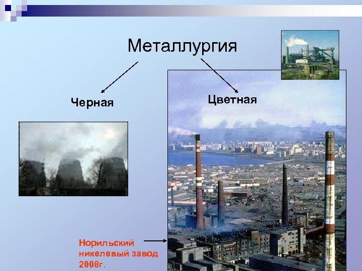 Металлургия Черная Норильский никелевый завод 2008 г. Цветная