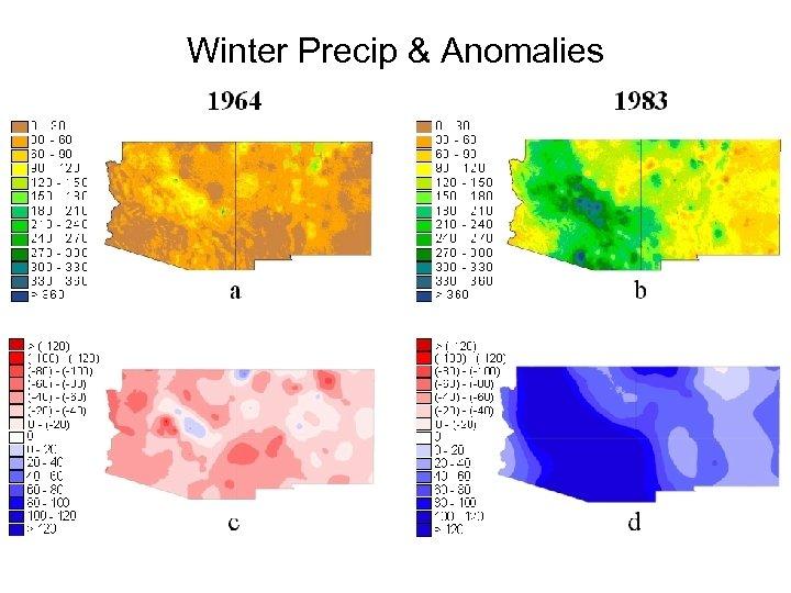 Winter Precip & Anomalies