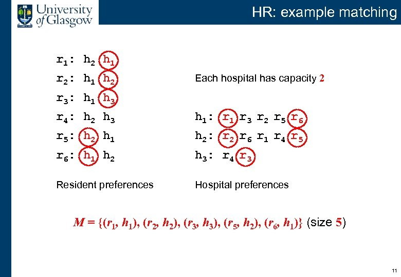 HR: example matching r 1: h 2 h 1 r 2: h 1 h