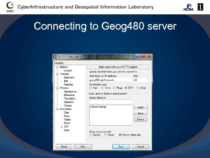 Connecting to Geog 480 server