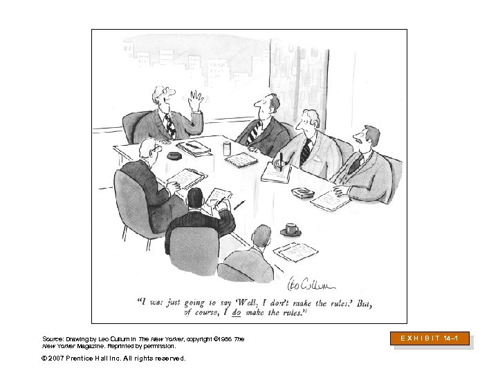 Source: Drawing by Leo Cullum in The New Yorker, copyright © 1986 The New