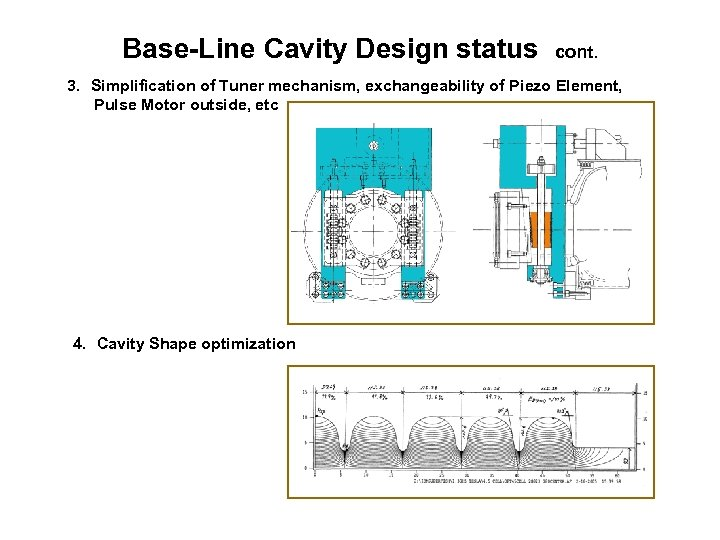 Base-Line Cavity Design status cont. 3. Simplification of Tuner mechanism, exchangeability of Piezo Element,