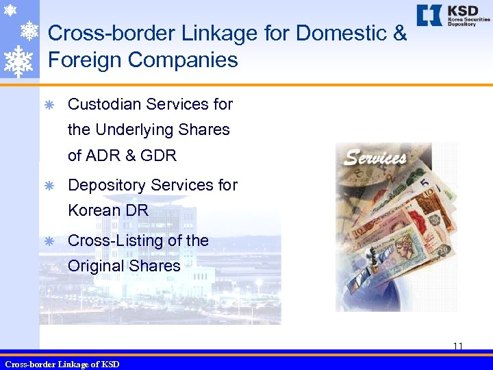 Cross-border Linkage for Domestic & Foreign Companies ã Custodian Services for the Underlying Shares
