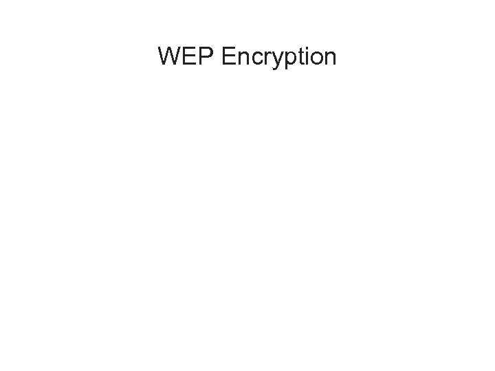 WEP Encryption