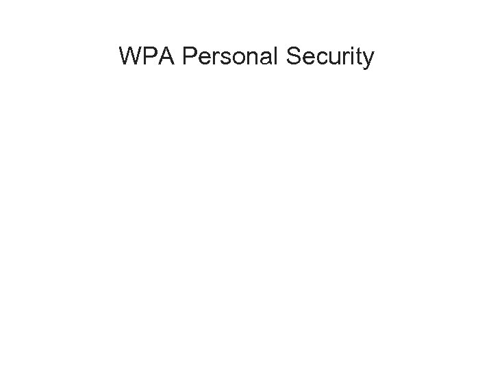 WPA Personal Security