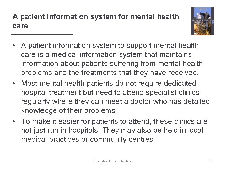 A patient information system for mental health care • A patient information system to