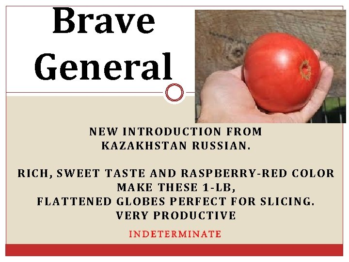 Brave General NEW INTRODUCTION FROM KAZAKHSTAN RUSSIAN. RICH, SWEET TASTE AND RASPBERRY-RED COLOR MAKE