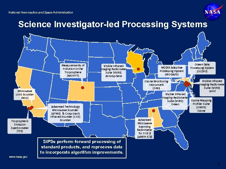 National Aeronautics and Space Administration Science Investigator-led Processing Systems Measurements of Pollution in the