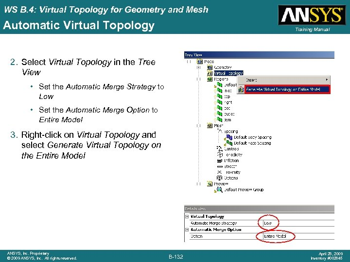 WS B. 4: Virtual Topology for Geometry and Mesh Automatic Virtual Topology Training Manual