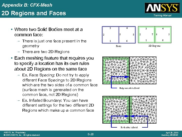 Appendix B: CFX-Mesh 2 D Regions and Faces Training Manual • Where two Solid