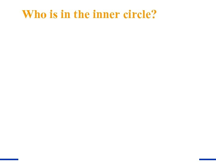 Who is in the inner circle?