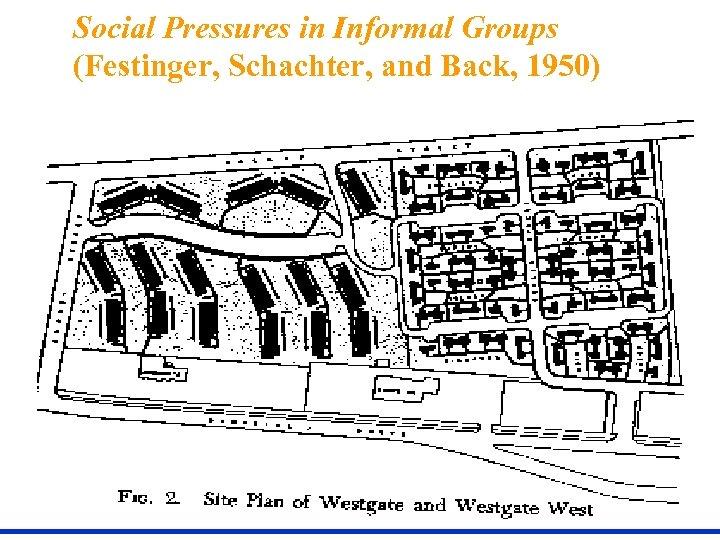 Social Pressures in Informal Groups (Festinger, Schachter, and Back, 1950)