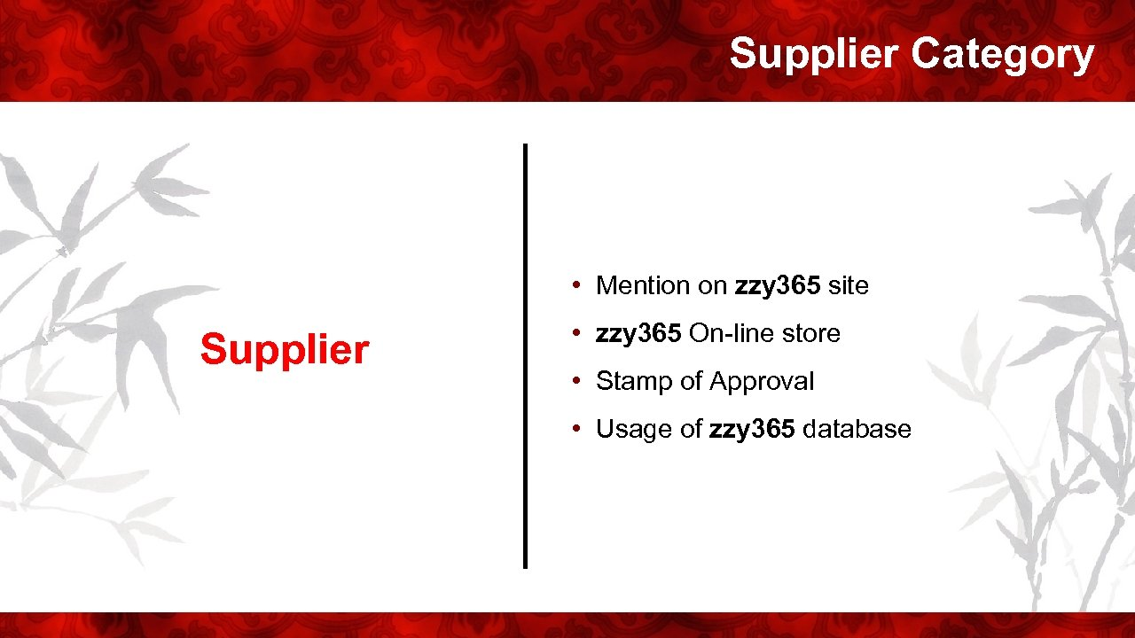 Supplier Category • Mention on zzy 365 site Supplier • zzy 365 On-line store