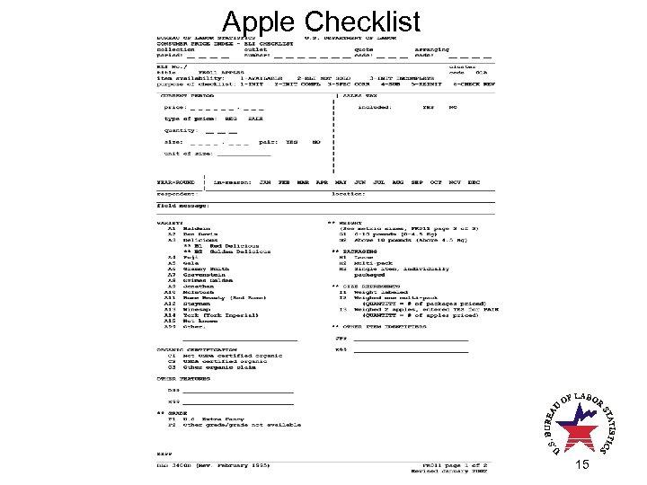 Apple Checklist 15