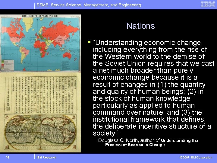 """SSME: Service Science, Management, and Engineering Nations § """"Understanding economic change including everything from"""