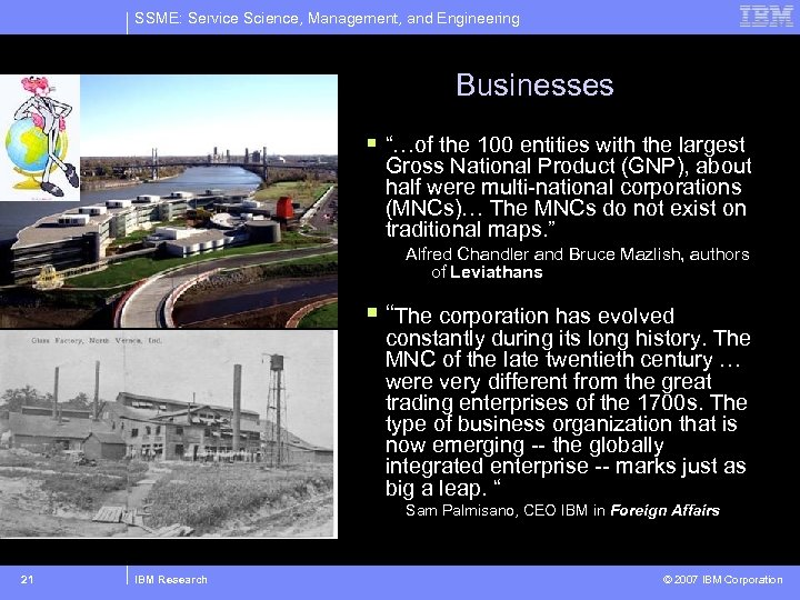 """SSME: Service Science, Management, and Engineering Businesses § """"…of the 100 entities with the"""