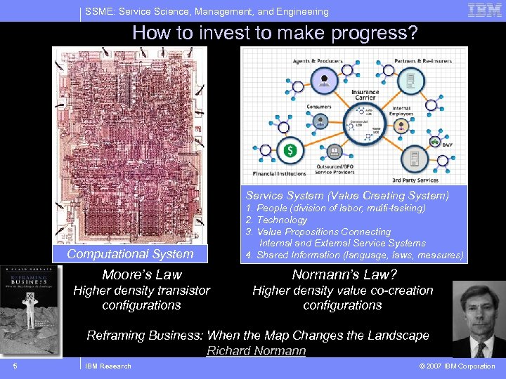 SSME: Service Science, Management, and Engineering How to invest to make progress? Service System