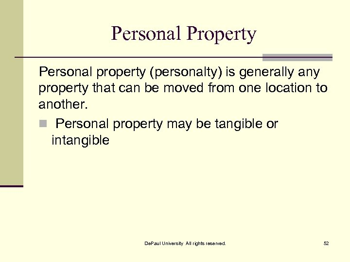 Personal Property Personal property (personalty) is generally any property that can be moved from