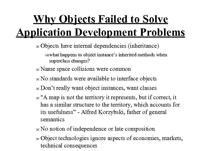 Why Objects Failed to Solve Application Development Problems