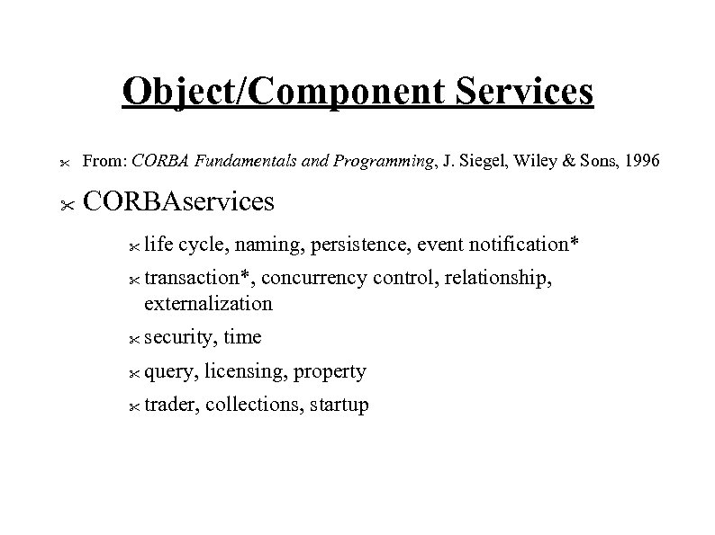 Object/Component Services