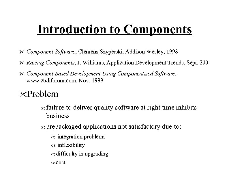 Introduction to Components