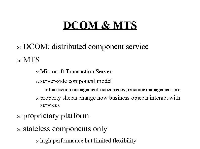 DCOM & MTS