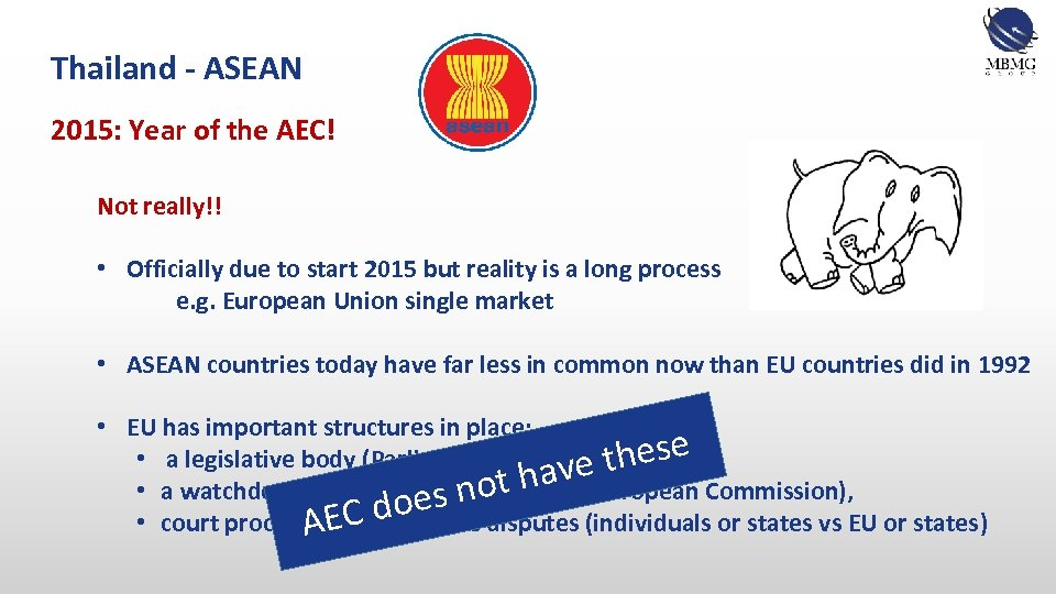 Thailand - ASEAN 2015: Year of the AEC! Not really!! • Officially due to