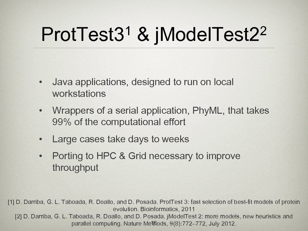 1 Prot. Test 3 & 2 j. Model. Test 2 • Java applications, designed