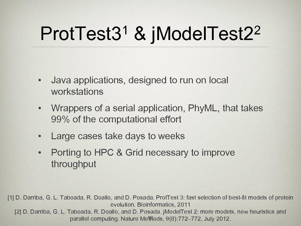 1 Prot. Test 3 & 2 j. Model. Test 2 • Java applications, designed