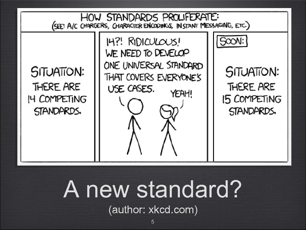 A new standard? (author: xkcd. com) 5