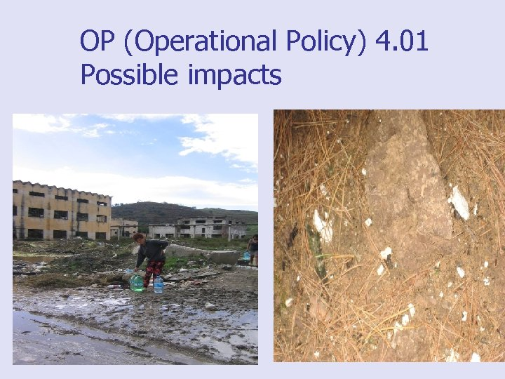 OP (Operational Policy) 4. 01 Possible impacts