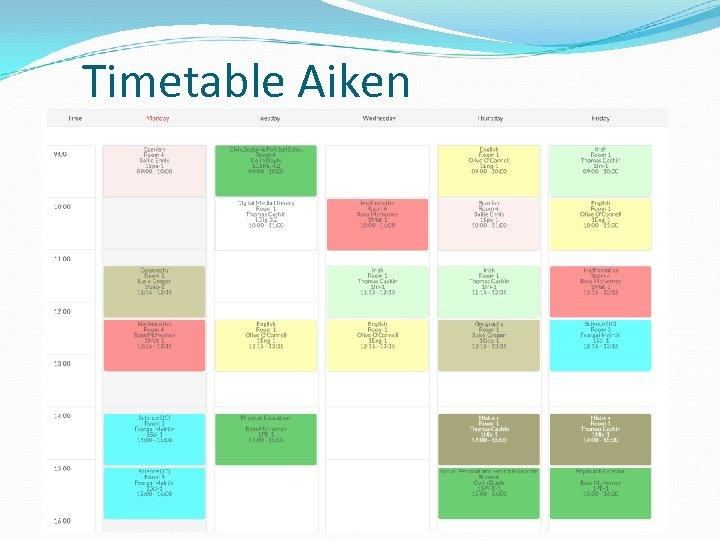 Timetable Aiken