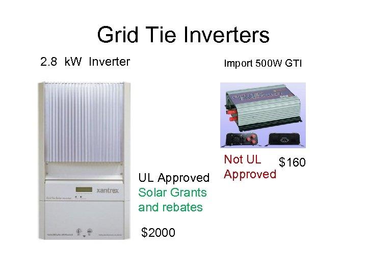 Grid Tie Inverters 2. 8 k. W Inverter Import 500 W GTI UL Approved