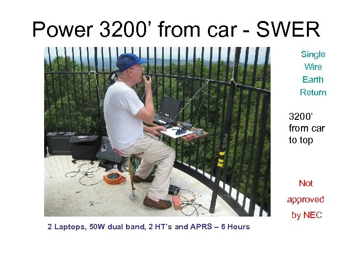 Power 3200' from car - SWER Single Wire Earth Return 3200' from car to