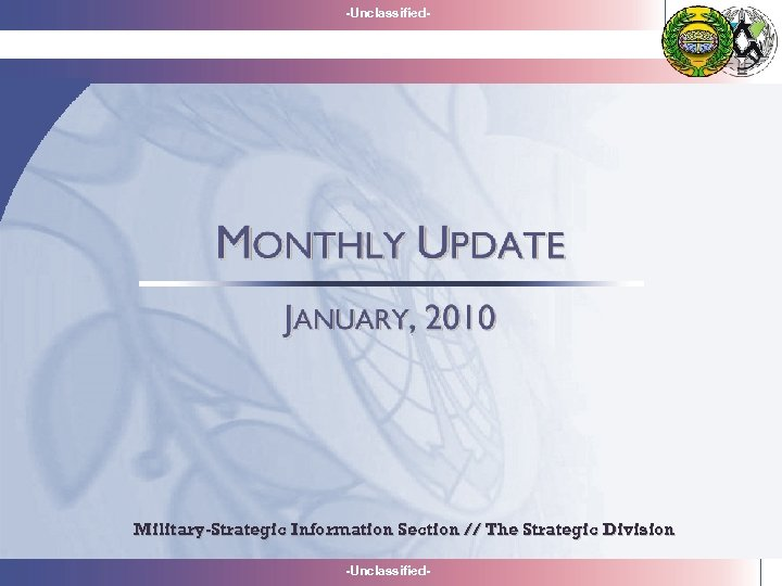 -Unclassified- Military-Strategic Information Section // The Strategic Division -Unclassified-