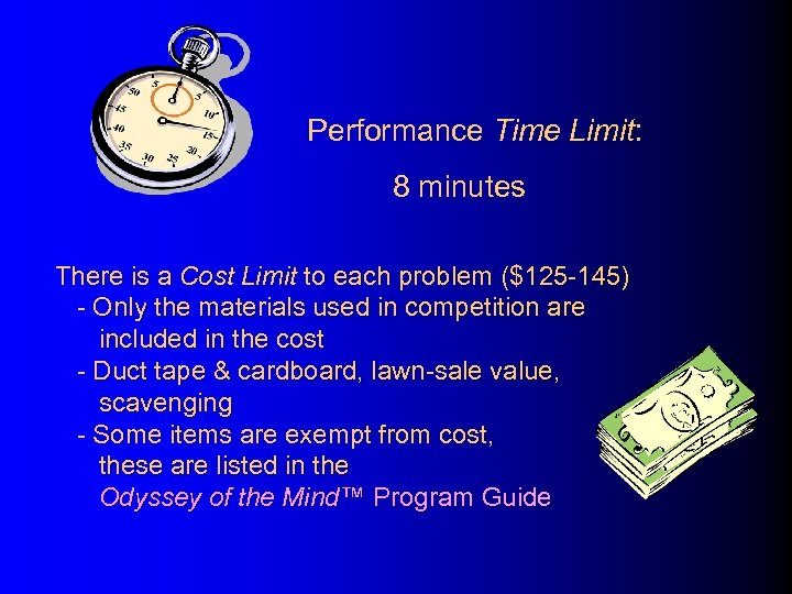 Performance Time Limit: 8 minutes There is a Cost Limit to each problem ($125