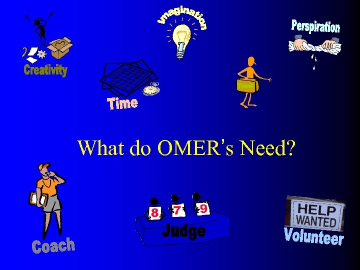 What do OMER's Need?