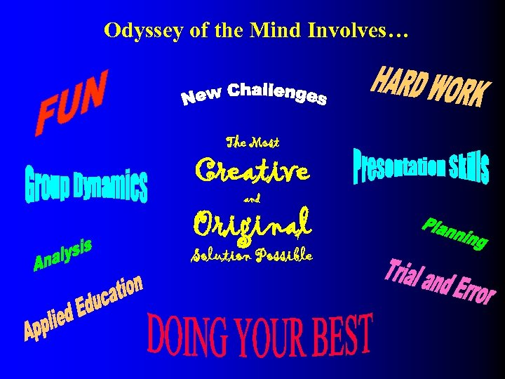 Odyssey of the Mind Involves… The Most Creative and Original Solution Possible