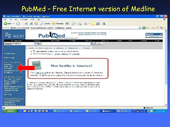Pub. Med – Free Internet version of Medline
