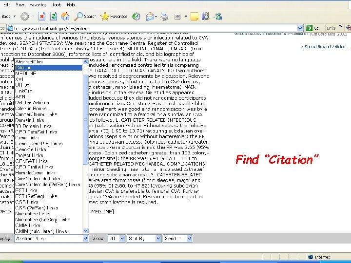 """Find """"Citation"""""""