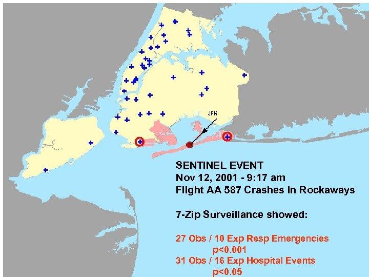 SENTINEL EVENT Nov 12, 2001 - 9: 17 am Flight AA 587 Crashes in