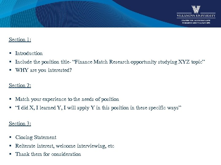 """Section 1: § Introduction § Include the position title- """"Finance Match Research opportunity studying"""