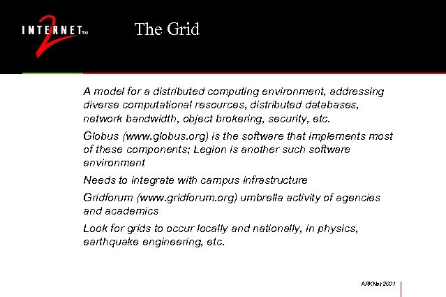 The Grid A model for a distributed computing environment, addressing diverse computational resources, distributed