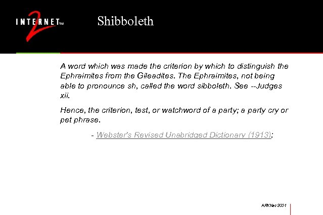 Shibboleth A word which was made the criterion by which to distinguish the Ephraimites
