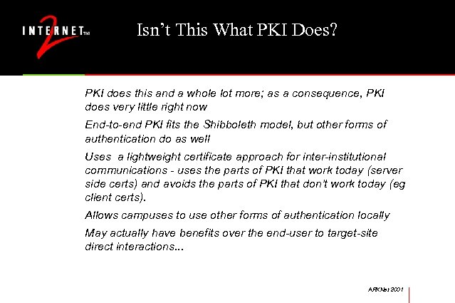 Isn't This What PKI Does? PKI does this and a whole lot more; as