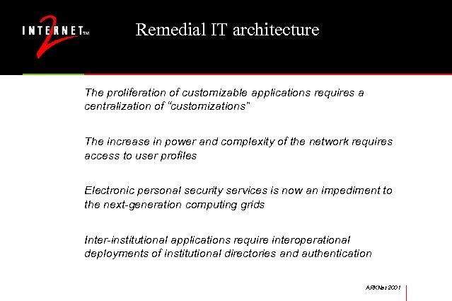 "Remedial IT architecture The proliferation of customizable applications requires a centralization of ""customizations"" The"