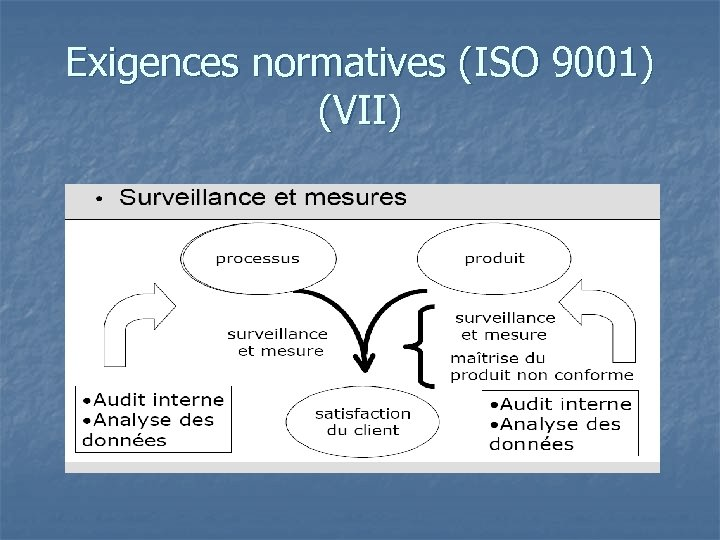 Exigences normatives (ISO 9001) (VII)