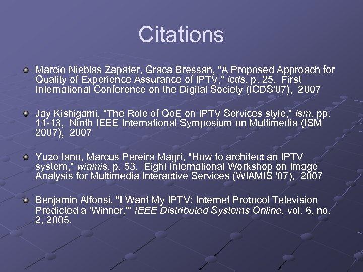Citations Marcio Nieblas Zapater, Graca Bressan,